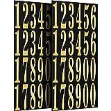 Chinco Numeri Adesivi Autoadesivi in Vinile Numeri in 0-9 Stampa e Stampaggio a Caldo per Fai da Te Artigianato Festa Decorazione, 13.4 per 7 Pollici (2)