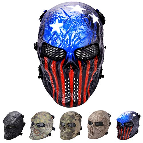 outgeek Tactical Airsoft Maske Full Face Kostüm Maske (Urban), Patriot (Full Face Maske Kostüm)