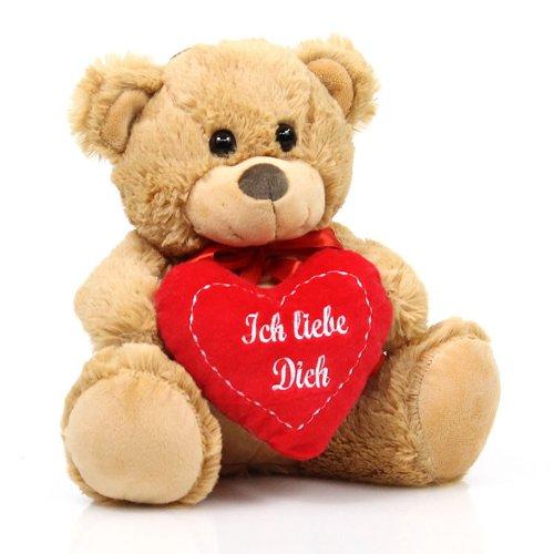 Geschenkideen Teddyb%C3%A4r-Pl%C3%BCschb%C3%A4r-hellbraun-Pl%C3%BCschtier-Kuscheltier