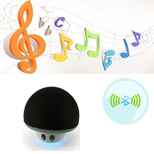 Rubility® Portable Wireless Mushroom Modello Mini Assorbimento Mobile Bass Bluetooth Speaker con MIC --- Nero