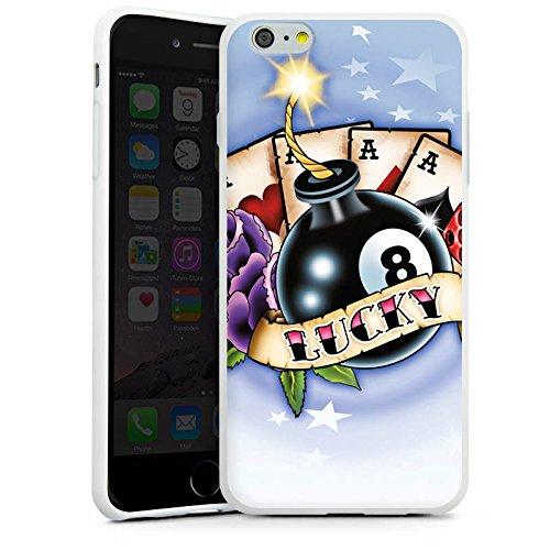 Apple iPhone X Silikon Hülle Case Schutzhülle Karten Glück Würfel Silikon Case weiß