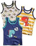 Vaenait baby 86-122 Jungen Kinder Unterhemd 3-Packung Top Undershirts Set Dinoland Blue L