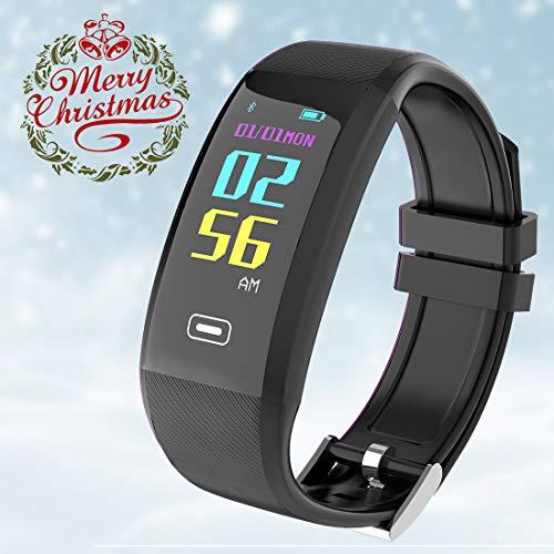 Fitness Tracker, Smart-Armband mit Farbbildschirm, Wasserdicht, Aktivitäts-Tracker mit Herzfrequenz- und Blutdruckmessgerät, Smart-Armband für iOS oder Android-Smartphone