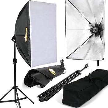 Lightfox hisy03–Beleuchtungs-Kit für Fotostudio, inkl. Stativ und Tragetasche
