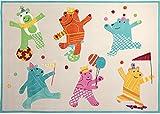 Kinderteppich Dancing Bears in Sand Teppichgröße: 70 x 140 cm
