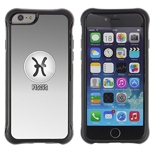Graphic4You Cancer Krebs Horoskop Tierkreis Zeichen Design Shockproof Anti-Rutsch Weichen Hülle Case Tasche Schutzhülle für Apple iPhone 6 / 6S Pisces