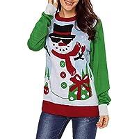 HWTOP Sweatshirts Hoodies Damen Weihnachten Oberteil Hemd T-Shirt Pullover Locker Sport Freizeit Premium Kleidung Langarmshirt Bluse Shirt Frauen Pulli Tops