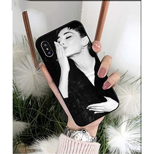 NJSdd Audrey Hepburn schwarz TPU weichen silikon Telefon case Abdeckung für iPhone 8 7 6 6 s Plus 5 5 s se xr x xs max Coque Shell, a11, für iPhone 8 Plus