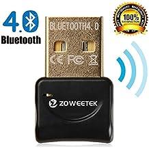 Zoweetek® Adaptador USB Bluetooth 4.0 Dongle de   Mini adaptador USB Bluetooth. Plug & Play   Compatible con Windows 10 / 8,1 / 8 / 7 / XP / Vista   Rango 10 m