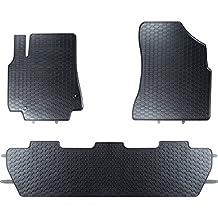Mossa Alfombrillas de goma - 3-piezas - un ajuste perfecto - negro - 5902538448420