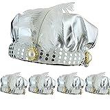 Sonia Originelli 5er SET Orientalischer Hut Wunderlampe Orient Fasching Karneval Kostüm Farbe Silber