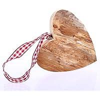 Holzdeko Herz klein, Ausführung Poliert, Weihnachtsdeko, Holzherz Weihnachten