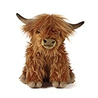 Living Nature Soft Toy, Plush Highland Cow, Farm Animals, Cattle