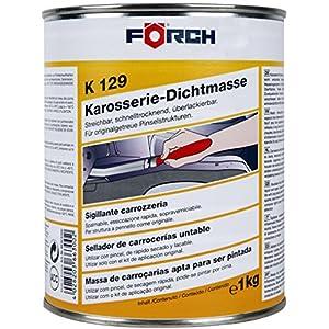 Förch K129 Karosserie Dichtmasse 1kg Dose streichbar für einfache Pinselverarbeitung, schnell trocknend, überlackierbar, dauerelastisch