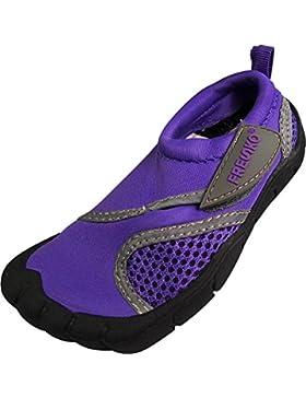 Fresko Toddler agua Aqua zapatos con los dedos de los pies, T1031
