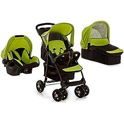 Hauck Shopper Trio Set H-15326 - Carrito 3 en 1, trío para cochecito de bebé (con capazo y grupo 0+), color verde claro