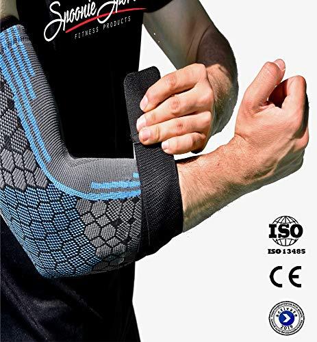 Spoonie Sports Ellenbogenbandage mit Klettverschluss - Kompression & Schutz | für Herren & Damen | ideale für Arbeit, Sport, Freizeit & gegen Schmerzen