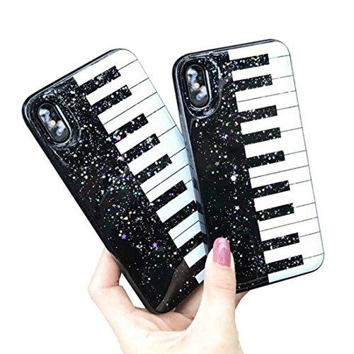 Inonler custodia tpu in morbido silicone lucido per pianoforte disegnoper il iphone 7(4,7