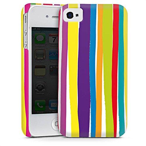 Apple iPhone 5s Housse étui coque protection Bandes Printemps Couleurs Cas Premium mat