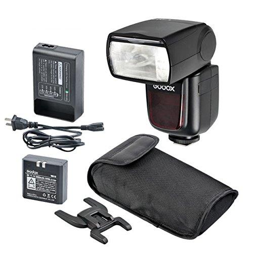 Godox V860n i-TTL Blitzgerät mit Lithium-Ion Akku für Nikon DSLR Kamera D4, D4S, D3X, D810, D800E, D800, D610, D600, D7100, D7000, D5300, D5200, D5100, D3200, D3100 schwarz