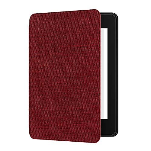 Ayotu Stoff Hülle für Kindle Paperwhite 2018 - Intelligenter Deckel mit automatischem Wake/Sleep-Modus - Passend Kindle Paperwhite-Stoffbezüge (10. Generation - 2018), K10 Red -