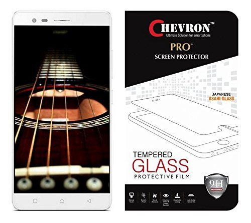 Chevron Premium Tempered Glass Screen Protector Skin Cover for Lenovo K5 Note  available at amazon for Rs.99