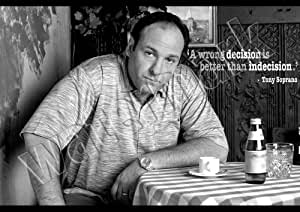 Tony Soprano Decisions Quote A1 A2 A3 Poster Wall Art