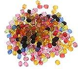 1000 Kunststoffperlen Luxus Acrylperlen Plastik 4mm Facettiert Kugeln Rund Mix Perlen Pack POSTEN Perle zum fädeln für DIY Schmuck Herstellung D803