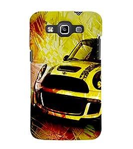 Fuson 3D Printed Car Designer back case cover for Samsung Galaxy Quattro I8552 / Win I8550 - D4480