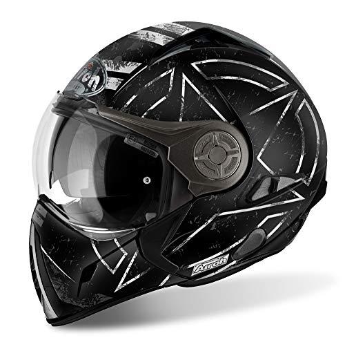 Qiroh casco moto modulare j-106Command, nero opaco