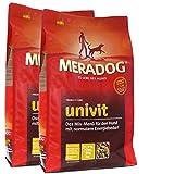 MERA Dog 2 x 12,5 kg UNIVIT Hundefutter für Hunde mit normalem Energiebedarf