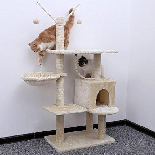 Baum-Katze mit graffiatoio Hundehütte Spielzeug Katzen Spielplatz Kratzbaum Sisal Natur Birba 30059 (Käse Baum)
