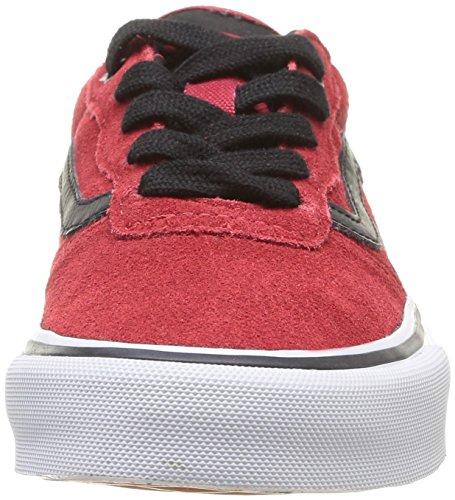 Vans Y Milton, Sneakers Hautes mixte enfant Rouge (Chili Pepper/Black)