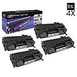 SPEEDYINKS Kompatibel HP CE505A HP 05A Satz von 4 Schwarz-Laser-Tonerkartuschen für HP Laserjet P2035, P2035n, P2050, P2055d, P2055dn und P2055X Drucker