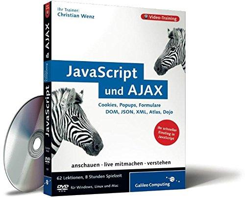 JavaScript und AJAX - Das Video-Training auf DVD