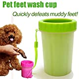 #6: Portable Pet Paw Cleaner/Washer, Durable Cleaning Cup with Silicone Bristles, Quickly Scrub and Wash Muddy Dirty Paws and Feet, Small to Medium Large Dog Breeds (Small Breeds)