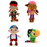 Disney Store Disney Junior Jr. Jake and The Never Land/Neverland Pirates Plush Stuffed Doll Toy Gift Set Including 12 Jake, 12 Izzy, 12 Cubby and 8 Skully by Disney Interactive Studios