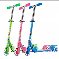 NEEL® Road Runner Scooter for Kids of 3 to 10 Years Age 3 Adjustable Height, Foldable, LED PU Wheels & Weight Capacity…