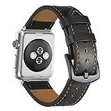 Leder Uhrenarmbänder Für Apple Watch 38mm Herren Damen Kalbsleder Ersatz Uhrenarmband Für Apple Watch Series 3 2 1