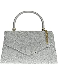 71b1c28e5c Girly HandBags Lace Satin Top Handle Clutch Bag Handbag Wedding Vintage  Designer Womens Fashion