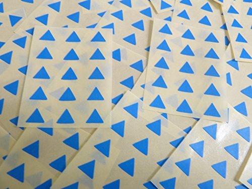 Pequeño 10mm Triangular Azul Medio Código De Color Pegatinas, 150 autoadhesivo Triángulos De Triángulo Adhesivo Etiquetas Colores