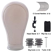 Mannequin Head Canvas Head Wig Display Model For Wig Making Drying Styling Coloring Head With Free Clamp