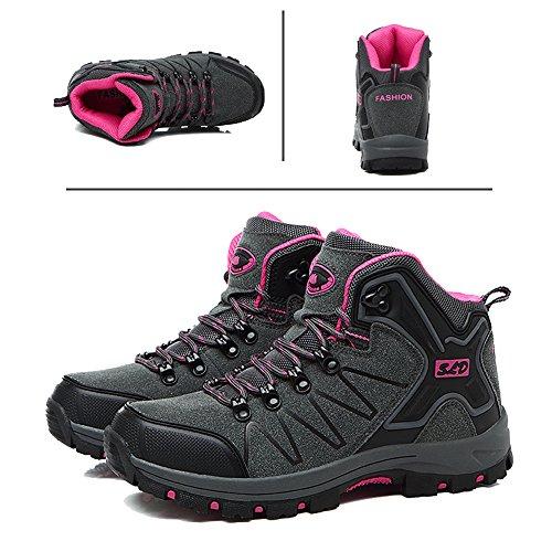 Tucsson Chaussures De Randonnée Hommes / Femmes Chaussures De Randonnée Escalade Sports De Plein Air Randonnée Sneakers Gris Rose