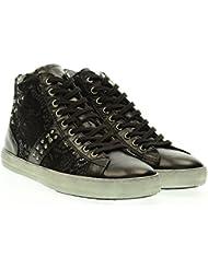 NEGRO JARDINES las zapatillas de deporte mujer alta A616242D / 100