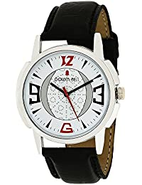 Golden Bell Original White Dial Black Strap Analog Wrist Watch For Men - GB-893