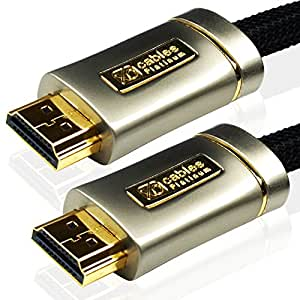 Câble HDMI XO PLATINUM 2m (2 Mètre(s)) *Nouvelle version 2.0/1.4 Haute Vitesse avec ETHERNET et 3D 21 Gps* Full HD 2160p/1080p for XBOX 360, PS3, PS4, boîtes TV HD Canalsat; beIn, Orange TV, Freebox, SFR Box TV et Bbox, DVD, BLU-RAY, UHD, LCD, LED, PLASMA, Dolby TrueHD, Samsung LG SONY PANASONIC HDTV