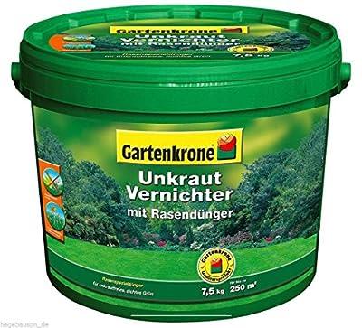 7,5 Kg Rasendünger mit Unkrautvernichter Gartenkrone von Gartenkrone - Du und dein Garten