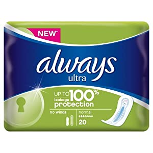 Always Ultra Sanitary Normal Towels, 20 Pads