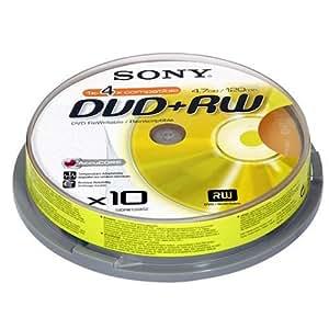 Sony DPW 120A - 10 x DVD+RW - 4.7 GB 1x - 4x - spindle - storage media