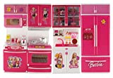 Best Barbie Kitchen Playsets - Wishkey Battery Operated Modern Kitchen and Accessories Pretend Review